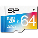 Silicon Power microSDXC, 64GB, Class 10 UHS-I + SD Adapter