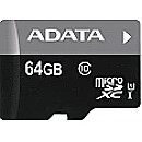 A-Data microSDXC UHS-I, 64GB, Premier Pro + SDHC Adapter