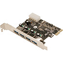 Logilink PCI-Express Card, 4x USB3.0